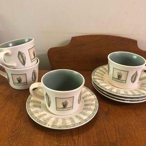 Flat cup & saucer set Pfaltzgraff